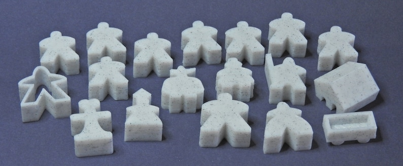 CARCASSONNE and expansions - Meeples and tokens for board game - CASIOPEA3D  - 3D PLA printed piece