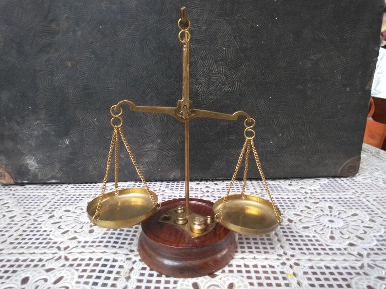 Vintage Brass Weight Postal Apothecary Kitchen Chemist Scale 2 Grm