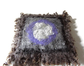 Pillow covers  20x20 felting Handmade decorative pillowcase grey OOAK eco wool felted Gift for house Decorative Cushions