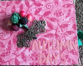Journal - for keepsakes, photos, receipts - Autumn Days Journal