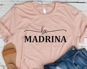 LA MADRINA SHIRT,Madrina y Padrino,Baptism shirt,Baptism gift,Godmother proposal,Godfather shirt,My first communion,Catholic