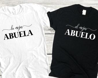 La mejor abuela, El mejor abuelo, Number one grandpa, Number one grandma, Best grandpa ever, Best grandma ever shirt, Regalo para mama