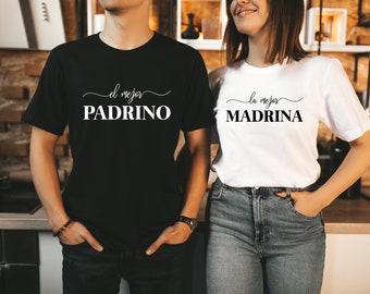 LA MADRINA, El PADRINO,godmother shirt, godfather shirt,Godparents shirt,Madrina,Padrino,Church Shirts,Baptism,First Communion,Catholic