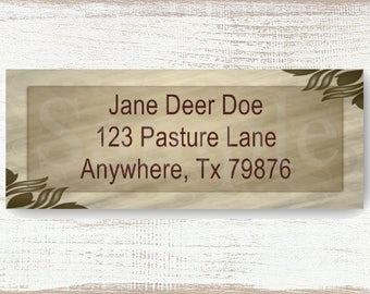 Elegant Border - Custom address label, Return address label, Self-adhesive address label, Address stickers, Mail Stationary, Return Labels