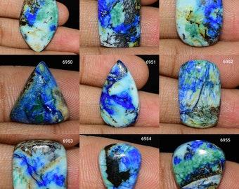 59Cts.33X23MM Natural Azurite Turquoise Gemstone Top Quality Azurite Turquoise Cabochon Azurite Turquoise Loose semi precious Jewelry