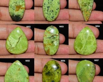 Multi Jewelry Making, Top Quality Green Opal Cabochon Natural Green Opal Gemstone Green Opal Jewelry Handmade Polish Green Opal Cabochon