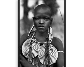 African Beauty, MadMan Threads, Framed photo paper poster