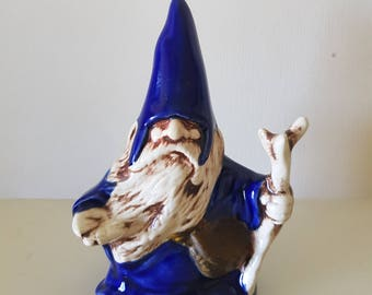 Ceramic wizard ornament