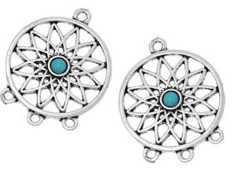 Set of 2 flower pendants