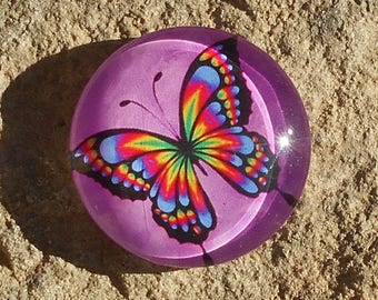 Glass 14 mm Butterfly cabochon