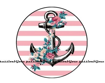 Smart collection hippi anchor glass cabochon