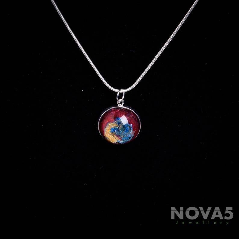 Contemporary Jewelry Contemporary Jewellery Modern Jewelry Modern Jewelr *Blue Red Gold Art Pendant*