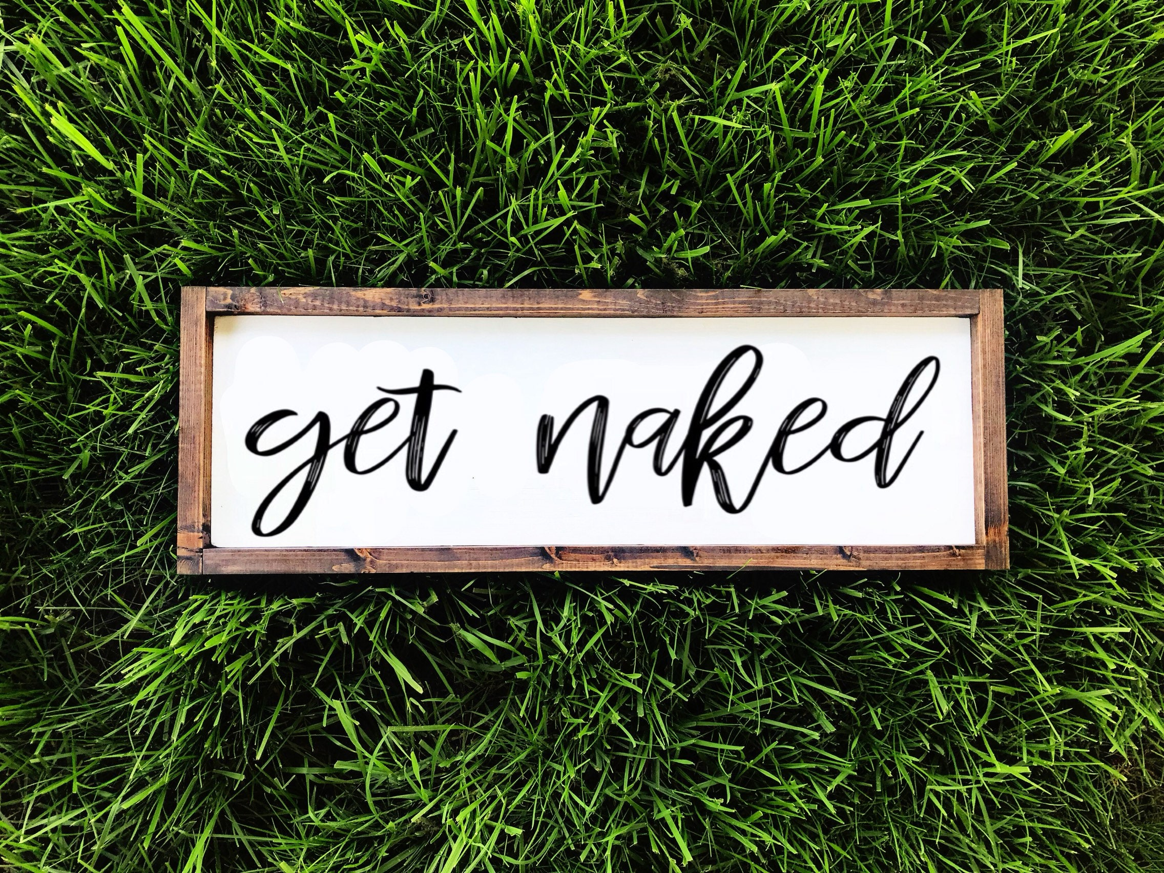 Notice naked only laminated funny sign for sale online