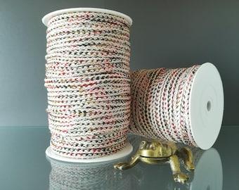 "100m 109yd Macrame cord 4mm 5/32"" textiles mixed colour ecru orange olive green ochre craft nursery room crafts diy tassel gift wall hanging"