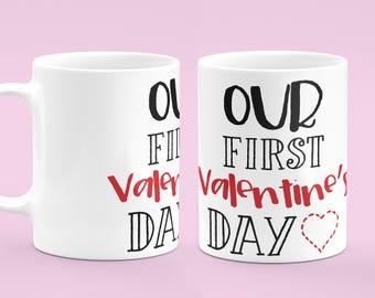 Our First Valentine's Day Mug - Valentine's Day Gift - Mug For Her - Mug For Him - Gifts Mug - Mr And Mrs Mug - Our First Mug