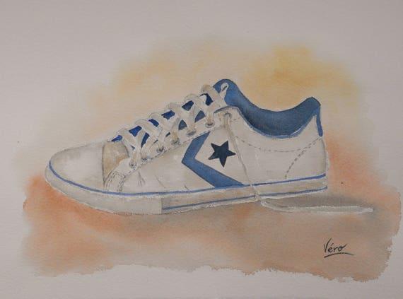 Converse Original De Etsy À Chaussure Peinture q6BHwraU6t