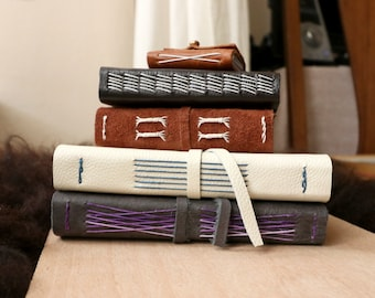Custom Leather Notebook: Handmade, Travel Journal, Great as a Gift.
