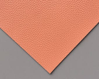 Terracotta Textured Faux Leather. Vegan leather sheet. Leatherette craft sheet. DIY hair bow supplies.