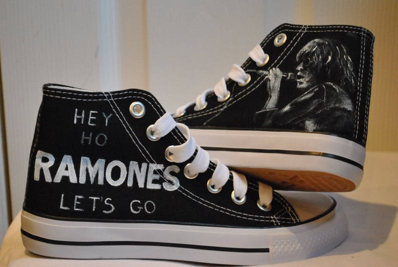 Customised Etsy Stylereal Ramones Shoes Converse Trainers wTqSAZf