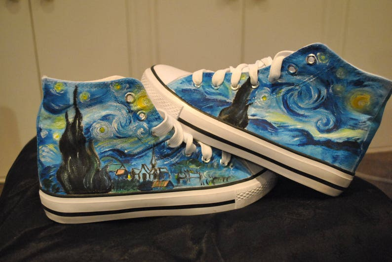 851a82676603 Customised shoes Van Gogh Starry Night Notte