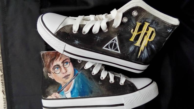 ea50b212b6c90b Harry Potter shoes personalised trainer converse style. REAL