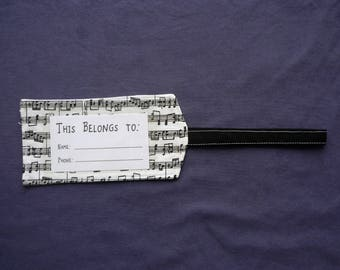 Bag Tag / Instrument Case Tag - Musical Scales!