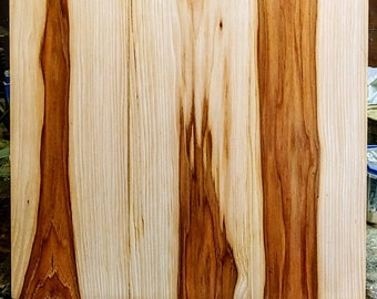 One of a kind 16x18 inches hickory charcuterie/serving board