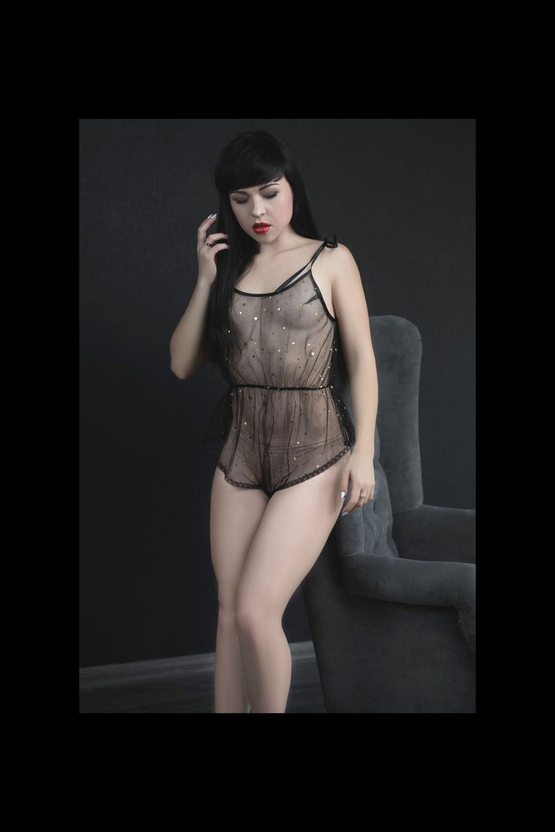 82682007a5a See through romper bodysuit erotic lingerie black mesh and