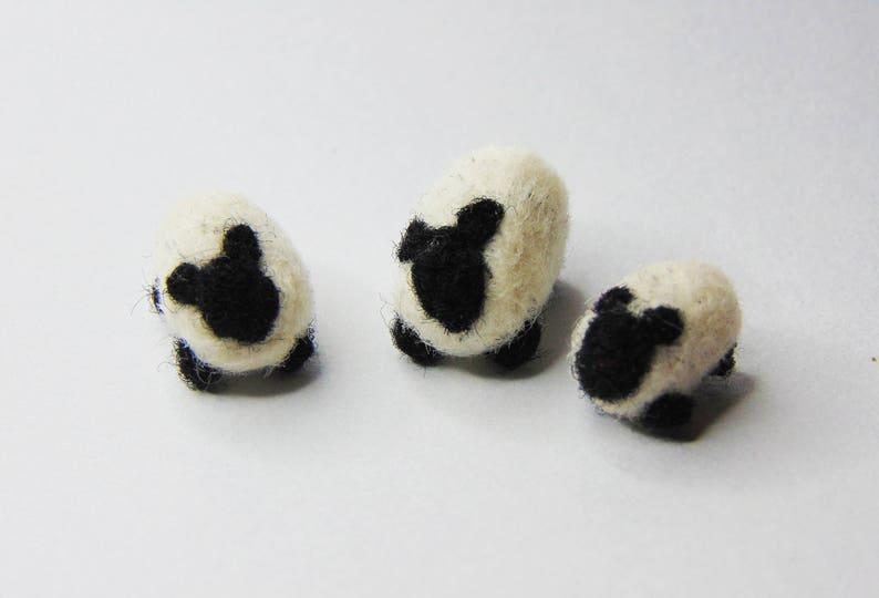 Miniature Needle Felted Sheep image 0