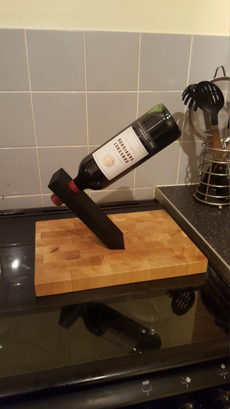 3D Printed balancing wine bottle holder