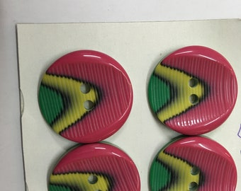 Pack 4 multicolor Buttons