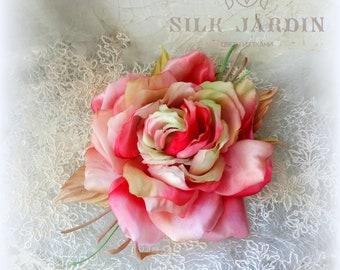 Silk flower brooch etsy silk flowers rose brooch flower for bride silk flower corsage silk brooch wedding pink rose rose textile brooch pin gift mightylinksfo