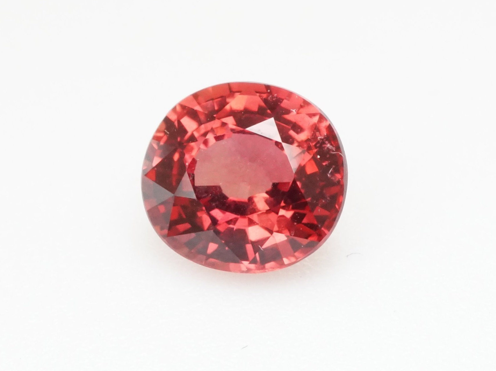 Natural Natural Natural Padparadcha Sapphire Loose, Custom Oval Engagement Wedding Ring, 1.31 cts Red Gemstones, September Birthstone Ring Personalized Gift 0f5674