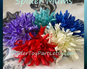 Spider Mum Flowers for Sugar Glider & Bird Toys; Kid's Jewelry/Barrette Making