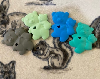 Silicone Koalas: Toy Part for Sugar Gliders, Ferrets, Small Birds, Small Pets; Teether for Babies