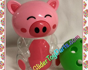 """6"""" Pink Pig 'Jelly' Bank Toy Base for Sugar Gliders or Child's Toy"""