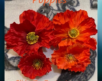 Poppy Blossoms for Sugar Glider & Bird Toys; Kid's Jewelry/Barrette Making