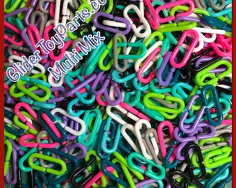 Multi-Pack Small Malleable C-Clips (x520) in Vivid Colors