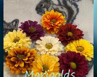 Marigold Flowers for Sugar Glider & Bird Toys; Kid's Jewelry/Barrette Making
