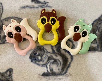 Silicone Squirrel: Toy Part for Sugar Gliders, Ferrets, Small Birds, Small Pets; Teether for Babies