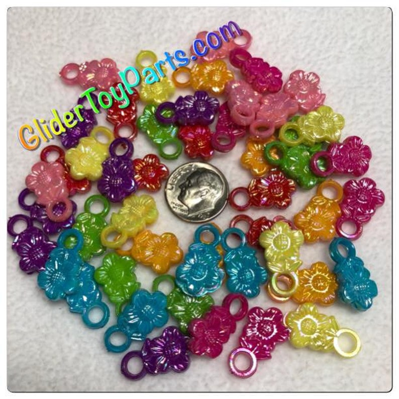 Small Bird Toys /& Kid/'s Jewelry Making 48ct Daisy Charms Ferret for Sugar Glider