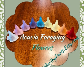Acacia Flowers (9) for Sugar Glider & Bird Toys; Kid's Jewelry Making