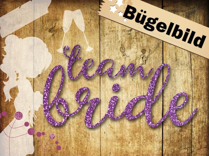 Glitter Velour ironing image team bride