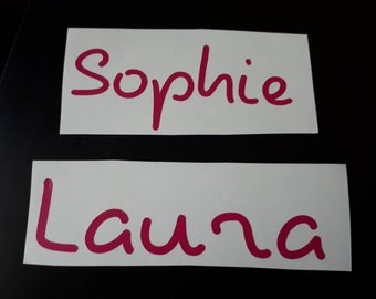 10 x LOVE ISLAND INSPIRED NAME VINYL DECAL STICKER FOR PERSONALISED WATER BOTTLE