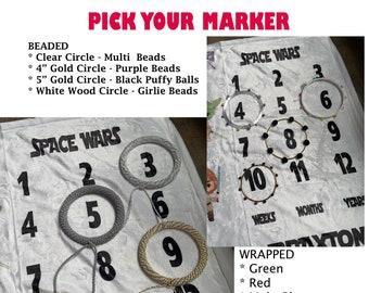 Milestone Blanket Markers - Blanket Markers - Month Markers