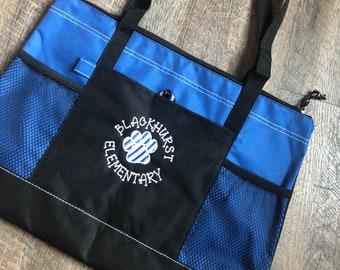 Embroidered Teacher Tote Bag/ Teacher Appreciation/ Teacher Gift/ Best Teacher Tote