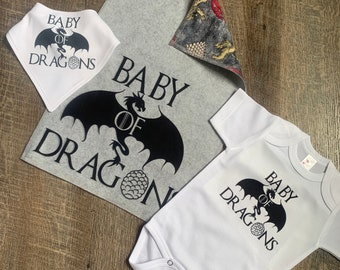 Game of Throness Inspired Bibs and Burp Cloth - Great gift for the Game of Throne Lovers - Mommy & Daddy - To-Be