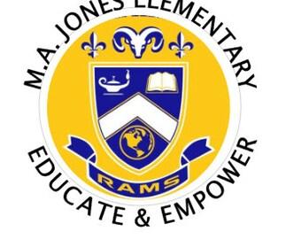 Embroidered MA JONES Teacher Shirt - Teacher Personalized School  Quarter Zip