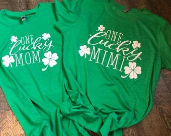 Personalized St. Patricks Day Shirt - Personalized Lucky Shirt - Tri-Blend Shirts