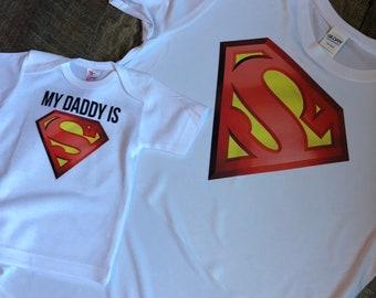 My Daddy Mommy is Superman Shirts - Superman Shirts - Daddy Kid Shirts